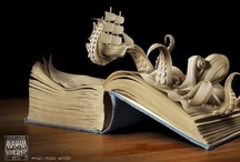 The Art of Books / The beauty of books used in art or those with spellbinding designs in cover, typography, or illustration as much as story