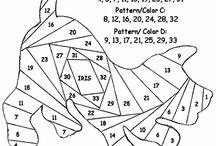 Iris folding pattern