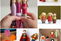 Peg People / Handmade people made of wooden pegs, clothespins, etc.