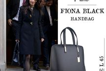 Marla Fiji - Fiona black Italian leather Saffiano bag