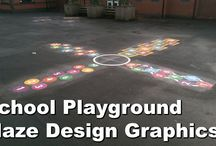 Playground Thermoplastic Markings