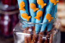 Birthday party fish theme