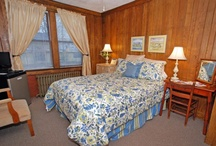Carolina Mallow / Our Only Pet Friendly Room.  This room is on the first floor at the back of the house.  It is in a section of the house that was built in 1940 and made completely of wormy chestnut tongue and groove paneling.  It has a queen bed and the bathroom has a standard tub with shower.