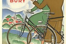 Art Deco Bicycle Posters / Fun fine art bicycle posters from the Art Deco era.  Art Deco Bicycle Posters are much less common than the earlier Art Nouveau posters.  This is because the golden age of posters was coming to an end as the Art Deco artistic movement was growing.  Other forms of outdoor advertising were replacing the poster.