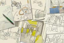 CROQUIS / dessin préparatoires de Florent Lasbleiz