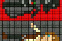 8 bits | Ponto cruz | Beads