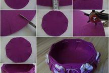 Cestino feltro viola