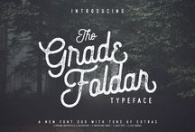 The Gradefoldar Typeface Duo with Free Vectors