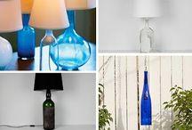 Lamparas hechas con botellas