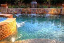 Swimming Pool Water Features / The calming sound of water in your own backyard...