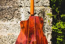 custom solid cocobolo rosewood Martin D style body by Pinol Guitars and Ukuleles