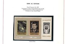 UMM AL QIWAIN, UPPER VOLTA, VENEZUELA & URUGUAY Stamps JFK / John F. Kennedy stamps collection of Umm Al Qiwain, Upper Volta,Venezuela & Uruguay.