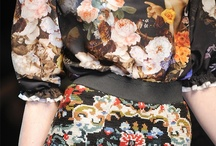 #Florals SS14 TREND ALERT / A key trend for SS14 - Fabulous Florals. The floral explosion discovers new depths especially when scattered across a black background