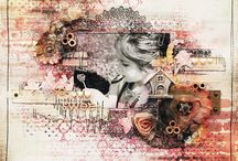 Mixed Media Scrapbook Layouts