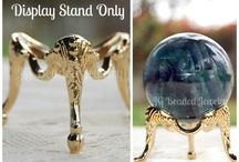 Crystal Ball Display Stands / Display stands for crystal balls, decorative eggs, blown glass, marbles and spheres! JGBeadedJewelry.Etsy.com