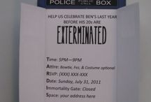 Dr Who Birthday / by Tracy Shute