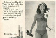 Vintage cigatette ads