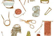 knit + illustration