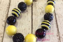 Football / Football team inspired necklaces  / by MadiCakes Designs