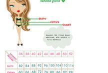 Tabelas de medidas femininas