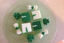 Mints / Melted Wilton chocolate using various graduation molds.  Add peppermint flavoring and use whatever school colors are appropriate.  These were made for high school graduates.  (Westfield Shamrocks) / by Maureen Derwent