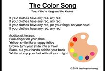 Printouts for storytime colors, rhymes, etc