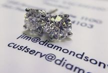 Diamond Earrings / Diamond studs, dangling diamond earrings