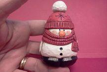 Snowmen carvings