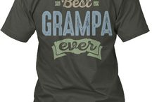 GRAMPA TEES / Gift ideas for Grampa! Tees, Hoodies and Long-sleeves available in the style and color of your choice! By Cido Lopez