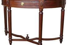 Console & Corner Tables / A selection of our beautiful Mahogany and Walnut Console & Corner Tables .