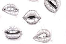száj rajzok