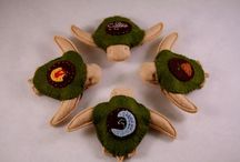 Turtle Hatchlings / Wool felt turtle instructions.