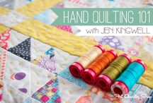 hand quilting / hand quilting, hand sewing, hand stitching, slow sewing
