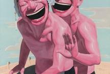 pastel pink people