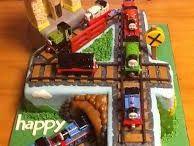 Tracks cake for the boy