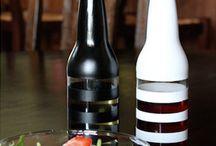 recycled beer botles