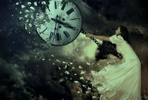 Dream clock, pulling girl