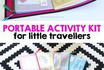 Kids travel activity pack ideas