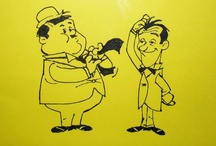 Laurel & Hardy / by Disegni su vetro