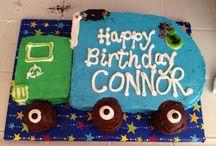 Bin truck cakes
