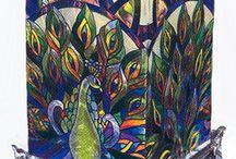 Üveg ablakok, mozaikok, csempék