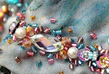 beads on cloths