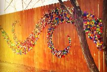 bottle cap mural designs