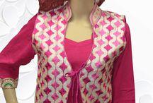 Phulkari Jackets / Material : Silk outside & pure satin inside.. Designer jacket..