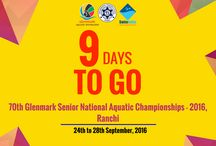 70th Glenmark Senior National Aquatic Championships - 2016, Ranchi / 70th Glenmark Senior National Aquatic Championships - 2016 will be organized at Veer Budhu Bhagat Aquatic Stadium, Ranchi from 24th September 2016 to 28th September 2016.Follow #NACIND for all updates.