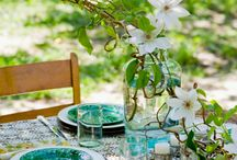 table setting & flower