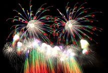 神明の花火 fireworks in Japan / 山梨県神明の花火 斎木煙火本店の作品 虹色のブーケ Shinmei fireworks display in Japan.