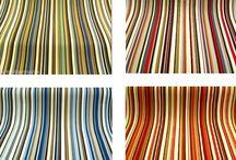 "Joseph Striped Designer Curtain Fabric / A shabby chic contemporary striped designer fabric. Vertical stripes 1/4"" ,1/2 "" 1"" and 1.25"" wide (0.62 cm,1.25 cm,3.12 cm) The fabric can be used for all soft furnishing uses (curtaining, blinds, cushions, loose covers etc.)."
