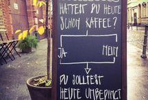 Sprüche Café