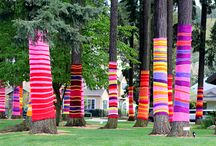 yarn bombing / to make the world a prettier place